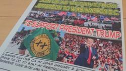 首都ワシントンでの抗議集会への参加を呼びかけるジェファーソン州独立運動の人々による告知文。