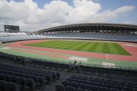 This July 23, 2020 file photo shows Miyagi Stadium in Rifu, Miyagi Prefecture. (Mainichi)
