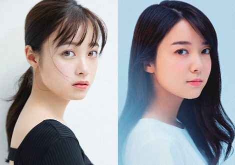 """This combination photo shows actors Kanna Hashimoto, left, and Mone Kamishiraishi, who will cover the role of the main character Chihiro in the stage play """"Spirited Away."""" (Photo courtesy of Toho Co.)"""