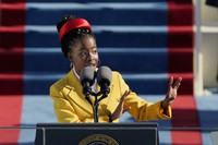In this Jan. 20, 2021 file photo, American poet Amanda Gorman recites a poem during the Inauguration of U.S. President Joe Biden at the Capitol in Washington. (AP Photo/Patrick Semansky)