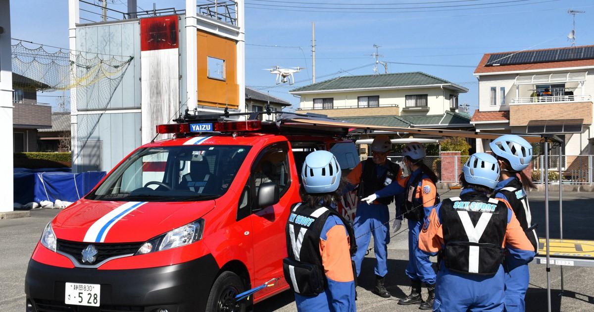 """Japão estreia seu primeiro carro de bombeiros equipado com """"droneponto"""" (pista para drones)"""