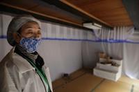 Yasuko Sasaki is seen at her house in the town of Namie, Fukushima Prefecture, on Feb. 1, 2021. (Mainichi/Daisuke Wada)