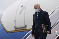 U.S. President Joe Biden steps off Air Force One at Andrews Air Force Base in Maryland, on March 1, 2021. (AP Photo/Patrick Semansky)