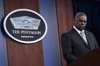 U.S. Secretary of Defense Lloyd Austin listens to a question as he speaks during a media briefing at the Pentagon on Feb. 19, 2021, in Washington. (AP Photo/Alex Brandon)