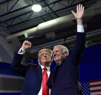 In this June 25, 2018 file photo, President Donald Trump speaks during a rally at Airport High School in West Columbia, S.C. for Republican Gov. Henry McMaster, right.  (AP Photo/Susan Walsh)