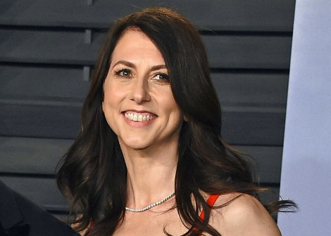 In this March 4, 2018, file photo, then-MacKenzie Bezos arrives at the Vanity Fair Oscar Party in Beverly Hills, Calif. MacKenzie Scott, philanthropist, author and former wife of Amazon founder Jeff Bezos, has married a Seattle science teacher. (Photo by Evan Agostini/Invision/AP)