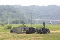 U.S. Army mobile equipment sits in a field in Yeoncheon, South Korea, near the border with North Korea, on June 17, 2020. (AP Photo/Ahn Young-joon)