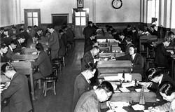 大阪手形交換所の様子(1936年)