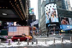 積極的な財政出動により米株の先高観は強い(ニューヨーク市) (Bloomberg)