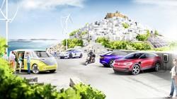 フォルクスワーゲンによる電気自動車や再生可能エネルギーの導入プロジェクトの予想図=同社提供