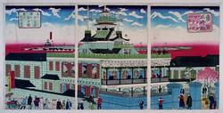 第一国立銀行の建物も元々は三井組が三井バンクを目指して建設した(日本銀行貨幣博物館所蔵)
