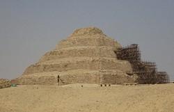 エジプト北部サッカラにある「階段ピラミッド」=2017年4月、篠田航一撮影