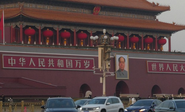 中国には8万を超える共産党支部と9200万人の党員がいる(天安門)