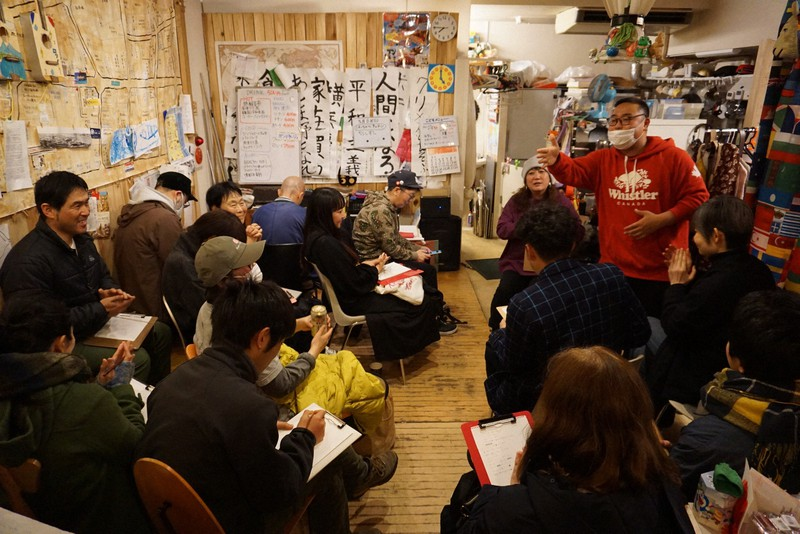 2020年3月8日、横浜で開催されたワークショップ、「映画『プリズン・サークル』を見て皆でラップを作ろう!」の様子 (c)Kaori Sakagami