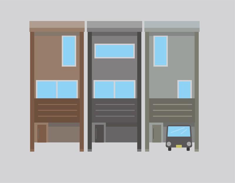 リビングダイニングや水回りに加えて2~3の居室が設けられ、比較的リーズナブルに購入できる狭小住宅 (出所)編集部作成
