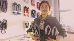 東京・墨田の「オレンジトーキョー」が製造・販売するカラフルな布草履「MERI(メリ)」は、女優の石原さとみさんが出演する東京メトロのCMでも取り上げられた=東京メトロ提供