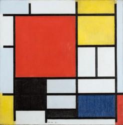 ピート・モンドリアン≪大きな赤の色メン、黄、黒、灰、青色のコンポジション≫ 1921年 デン・ハーグ美術館 Kunstmuseum Den Haag