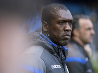 In this April 29, 2018 file photo, Deportivo's coach Clarence Seedorf looks on during their Spanish La Liga soccer match against Barcelona at the Riazor stadium in A Coruna, Spain. (AP Photo/Lalo R. Villar)