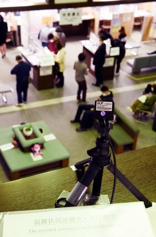 AIを活用したカメラで公共の場の混雑状況を分析する