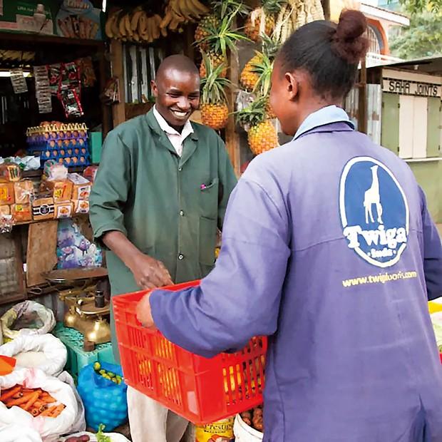 ツィガフーズはキオスクに新鮮な野菜を届ける Twiga Foods 提供