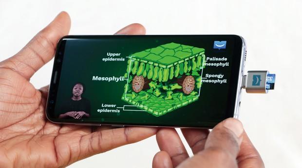 スマートフォンにSDカードを差し込むだけで見られるユー・レッスンの学習コンテンツ uLesson提供