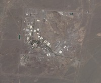 This satellite photo provided from Planet Labs Inc. shows Iran's Natanz nuclear facility on April 14, 2021. (Planet Labs via AP)