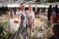In this Jan. 27, 2021 file photo, model Kate Moss, left, and her daughter Lila Grace Moss wear a creation for Fendi's Spring-Summer 2021 Haute Couture fashion collection presented in Paris. (AP Photo/Francois Mori, File)
