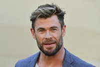 """Actor Chris Hemsworth attends at a press conference to announce the new """"Mad Max"""" film at Fox Studios Australia in Sydney, on April 19, 2021. (Mick Tsikas/AAP Image via AP)"""
