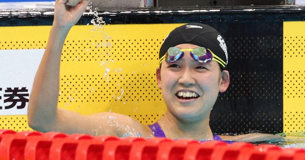 月刊東京五輪:競泳 女子・小堀倭加(20) あわてず、あせらず、あきらめず 過酷長距離、ペース乱さず追い上げ