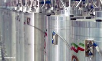 In this image made from April 17, 2021, video released by the Islamic Republic Iran Broadcasting, IRIB, state-run TV, various centrifuge machines line the hall damaged on April 11, 2021, at the Natanz Uranium Enrichment Facility, some 200 miles (322 km) south of the capital Tehran, Iran. (IRIB via AP)