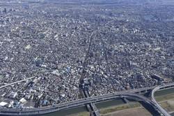 江東5区の被害想定は250万人だ(2020年撮影。写真中央は堀切菖蒲園駅)
