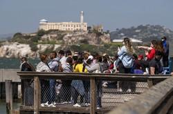 観光客でにぎわう米国のサンフランシスコ (Bloomberg)