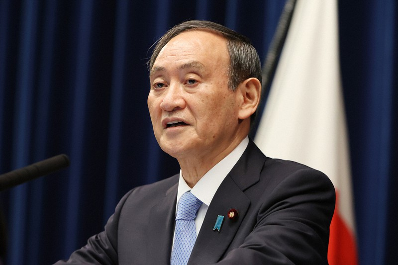衆院解散について菅義偉首相の親中は?(首相官邸で3月5日、代表撮影)