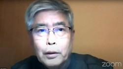 オンラインで講演する元福井地裁裁判長の樋口英明さん