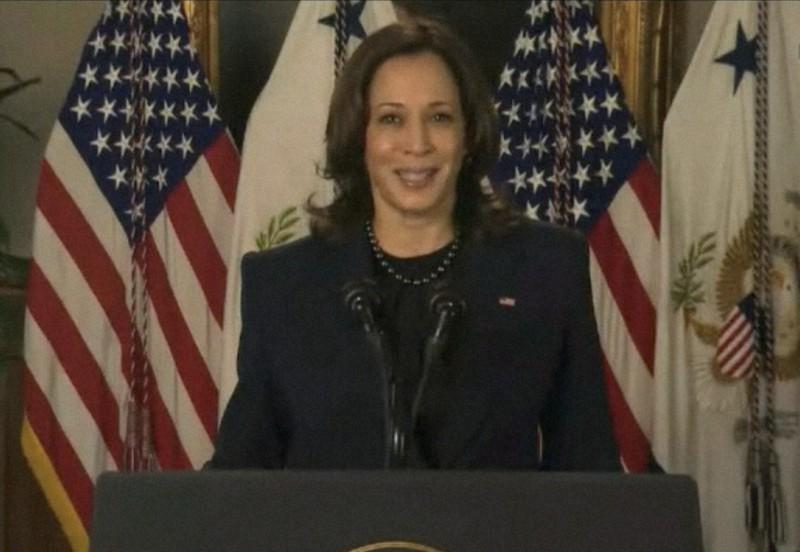 米国ではハリス氏が副大統領となり、初の女性大統領誕生が早くも期待されている=2021年3月16日、国連のウェブTVから