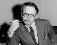 This 1946 file photo shows mystery novelist and screenwriter Raymond Chandler. (AP Photo)