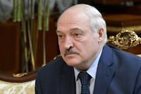 Belarusian President Alexander Lukashenko listens to Russian Prime Minister Mikhail Mishustin during their talks in Minsk, Belarus, on April 16, 2021. (Alexander Astafyev, Sputnik, Kremlin Pool Photo via AP)