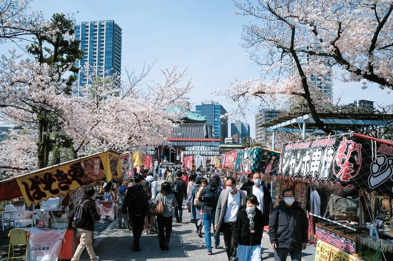 街に人が戻りつつある(東京・上野公園) (Bloomberg)
