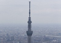 This Oct. 17, 2018 file photo taken from a Mainichi Shimbun helicopter shows Tokyo Skytree in the capital's Sumida Ward. (Mainichi)