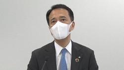 オンラインで会見する奥田健太郎・野村ホールディングス社長=2021年4月27日