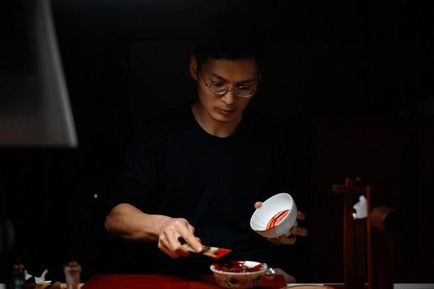 諸石健太郎さん 輪島の漆器ブランド「YUKAKU」さんにて=筆者撮影