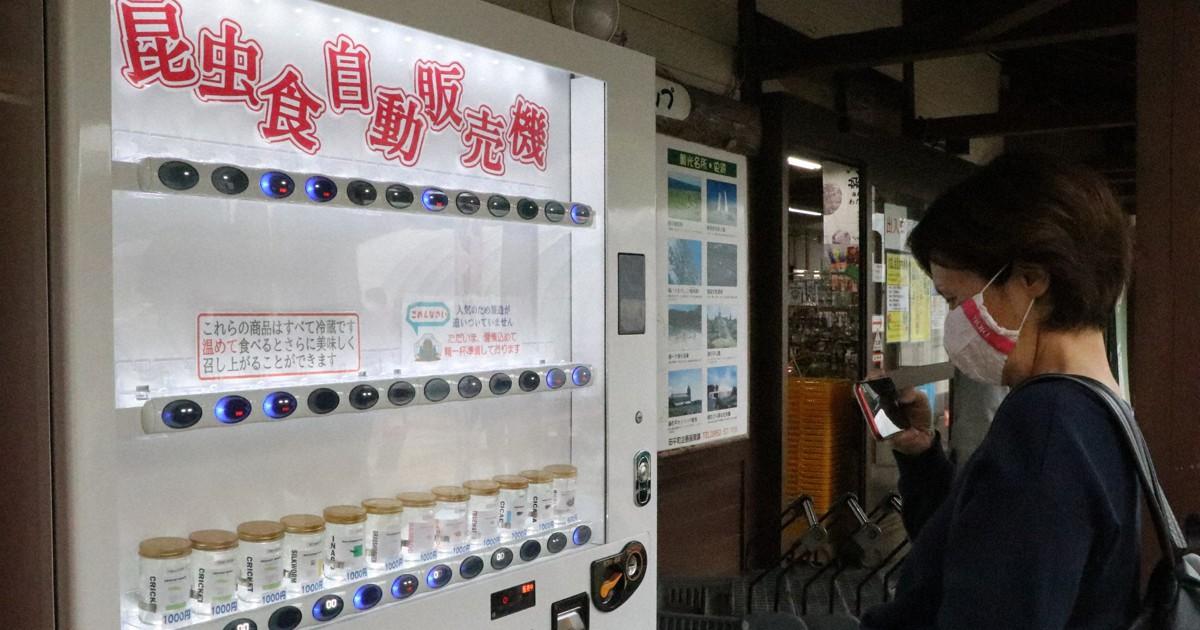 Empresa japonesa instala máquina automática que vende insetos comestíveis