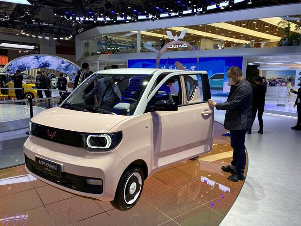 宏光ミニEVの特別仕様車「マカロン」(2021年4月の上海モーターショー)
