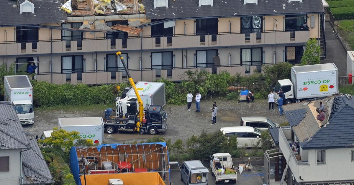 Tornados danificam 97 edifícios na região central do Japão
