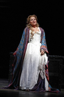 "In this Oct. 5 2012 file photo, soprano Renee Fleming performs as Desdemona during the final dress rehearsal of Guiseppe Verdi's ""Otello"" at the Metropolitan Opera in New York. (AP Photo/Mary Altaffer)"