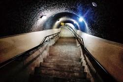 蒋介石元総裁の避難経路として設けられた東側の地下トンネル 円山大飯店提供