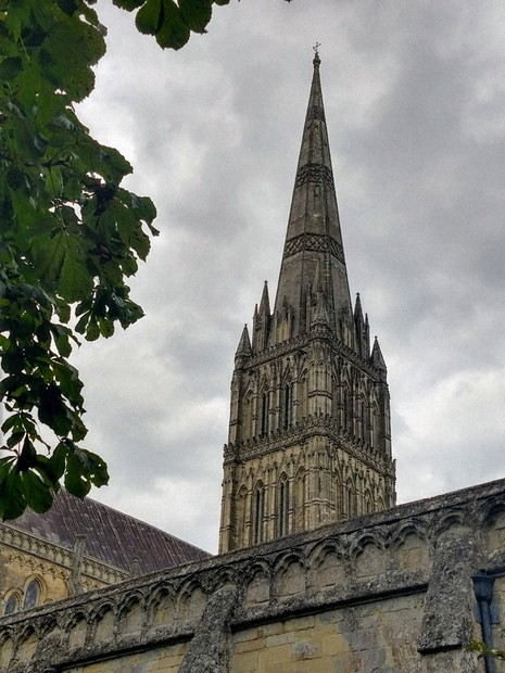 The spire of Salisbury Cathedral (Photo courtesy of Damian Flanagan)