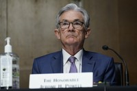In this Dec. 1, 2020 file photo, Chairman of the Federal Reserve Jerome Powell appears before the Senate Banking Committee on Capitol Hill in Washington. (AP Photo/Susan Walsh, Pool)