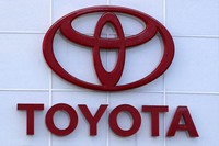This Aug. 15, 2019 file photo shows the Toyota logo on a dealership in Manchester, N.H. (AP Photo/Charles Krupa)