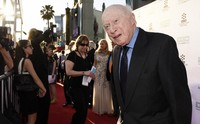 "Norman Lloyd poses before a 50th anniversary screening of the film ""The Sound of Music"" at the opening night gala of the TCM Classic Film Festival on March 26, 2015, in Los Angeles. (Photo by Chris Pizzello/Invision/AP)"